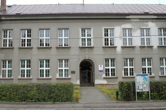 The original weaving school where Josef studied from 1901-1903